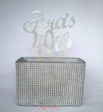 Custom Glitter Cake Topper 2 LINE 2 WORD Birthday, Wedding 21st  30th 40th Baby