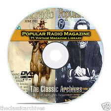 Popular Radio, 71 Vintage Old Time Radio Magazine Collection PDF CD DVD B77
