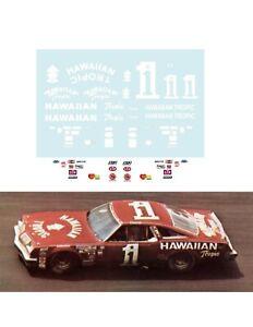 #1 Donnie Allison Hawaiian Tropic 1/24 scale decal AFX Tyco Aurora Autoworld