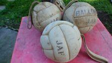 medecine ball vintage Ballonde JAF lot de 3 à laniere