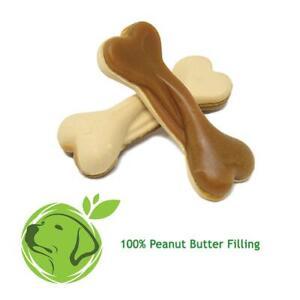 6 Veggie Vegan dog treat Dual sided peanut butter bones xylitol & palm oil free