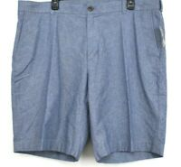 Brooks Brothers Mens 100% Cotton Blue Casual Summer Shorts Flat Front 40x10