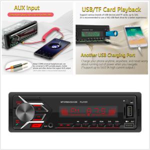 Car Stereo Audio Radio Head Unit In-Dash FM SD USB AUX MP3 Bluetooth Player 12V
