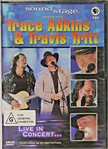 Trace Adkins & Travis Tritt - Sound Stage Country Music DVD - NEW - RARE