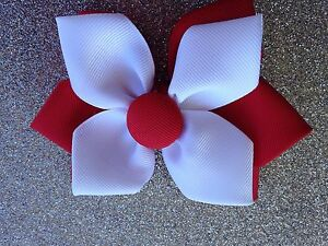 School Colour Hair Clips and Hair Ties 11cm Butterfly Bows