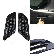 2PCS Car Side Air Flow Vent Fender Cover Intake Grille Sticker Vent Hole Covers