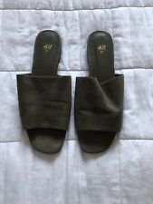 Womens H&M Miss green Sandals Slippers Shoes Flats Eur 37 UK 4