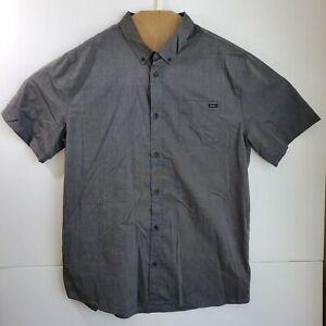 O'neill Men's Short Sleeve Button Down Gray Classic Fit Pocket Shirt Size XXL