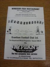 1985/1986 Grantham V Sheffield United [] amigable. gracias por ver este artículo