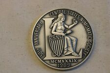 1989 CSNS Central States Numismatic Society 50th Anniversary 7.5oz  Fine Silver