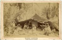 N. D. Algérie, Sahara Algérien, Campement de Nomades vintage albumen print, Alge