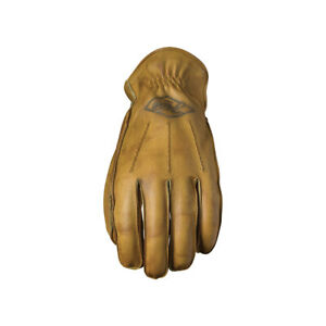 Five IOWA 66 Brush Gold Custom/Cruiser/Chopper/Retro Motorcycle Gloves