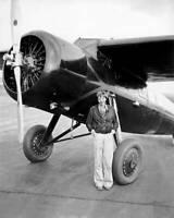 OLD LARGE PHOTO of American Aviation Pioneer Amelia Earhart 1930s 33