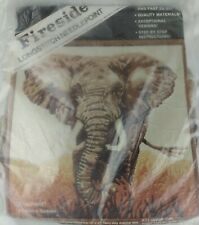Fireside Longstitch Needlepoint Elephant Picture Kit 20x20 vtg