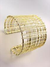 CHUNKY Urban Anthropologie Gold Metal Wire Wrapped Wide Cuff Bracelet
