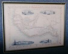 1850 TALLIS RAPKIN ANTIQUE MAP OF WESTERN AFRICA