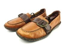 Born 9.5 Brown Leather Flats Loafer
