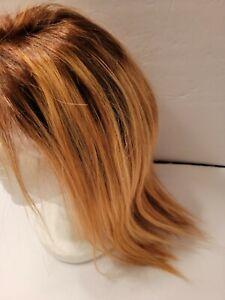 Ombre Color 4/27 Lace Front Human Hair wig100% Brazilian Virgin hair 150% densit