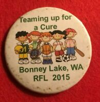 RETRO  ORIGINAL PINBACK BUTTON BADGE 2 1/4 INCH - BONNEY LAKE CURE    (GG29)