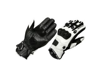 New Short Motorbike Motorcycle Summer Leather Breathable White Gloves