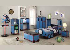 Acme Tobi 7 Piece Twin Fun Blue Child Bed Set Furniture 37560T