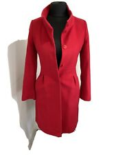 Hobbs Red wool And Cashmere Coat Size UK 8