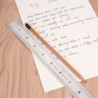 30cm 12 inches Stainless Steel Metal Straight Ruler Precision Double Sided