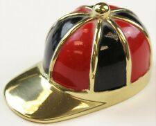 Red/ Black Enamel & Brass Jockey Cap Bottle Opener
