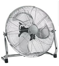 """18"""" Chrome Quality High Velocity Air Power Floor Fan 3 Speed Quick Despatch UK"""