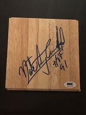 HOF NATE ARCHIBALD SIGNED AUTOGRAPHED FLOORBOARD PIECE CERTIFIED SGC AUTHENTIC