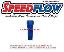 "Speedflow Straight 1/8"" NPT Thread Extension FITTING 372-02 -BLUE TURBOSMART FPR"