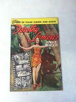 DOROTHY LAMOUR : JUNGLE PRINCESS #3 FOX, 1950, SACRIFICE OF THE MAIDENS!!!