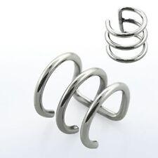 1 Fake Helix Piercing Ear Cuff Ohrklemme 3 Ringe Doppelring BCR Kein Loch @ EDEL