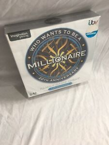 Who Wants To Be A Millionaire? 20th Anniversary Family Game Night Board Rare