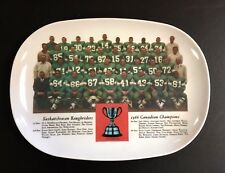 1966 Grey Cup Champions Saskatchewan Rough Riders Team Photo Platter