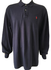 Polo Ralph Lauren Dark Navy Blue Polo Shirt Sweatshirt Jumper Sweater Top  - XL