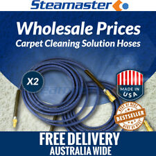 Carpet Cleaning - Hose Cuff 2 x Solution Hose 3000PSI w Quick Couplings 15m