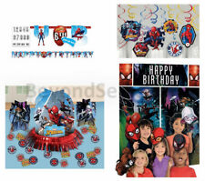 Marvel Spider-Man Birthday Pack (Banner, Wall Poster, Swirls & Table Decor Kit)