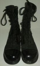Corcoran Black Leather Size 11.5 U.S. Military Combat Jump Boots Used W/Laces