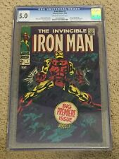 Iron Man 1 CGC 5.0 OW/White Pages (1st solo title from 1968!!)