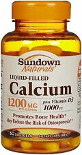 Sundown Calcium Plus D Liquid Filled Softgels 1200mg Softgel 60ct