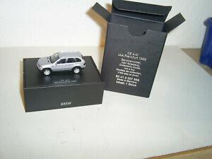 Herpa 1:87 IAA Frankfurt 1999 Sammlermodell BMW X5 4,4i silber, OVP,neuwertig