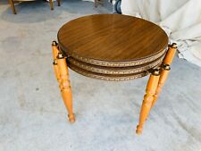 Beautiful Vintage Mid Century Modern Wood Leg Nesting Side Tables Set of 3 L@@K
