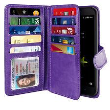 Purple Flip Wallet Pouch TPU Case Cover For ZTE Blade Z Max Z982/ Sequoia