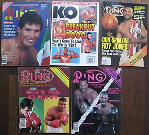 Five Boxing Magazines: The Ring Jan 1986 (Spinks), Sept 1986 (Cooney/Tyson), etc