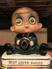 Best Lover Award Bobble Head Capri Collection Made in Japan  Ceramic-Porcelain