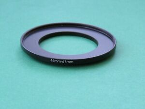 46mm-67mm Stepping Step Up Male-Female Filter Ring Adapter 46mm-67mm