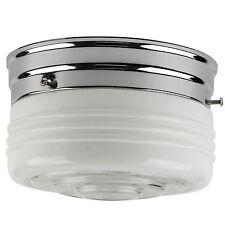 "Sunlite 6"" Energy Saving Drum Ceiling Fixture Chrome Finish Semi Frosted Drum"