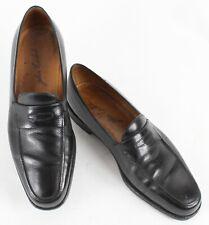John Lobb Sz 9.5 - 10N? Black Slightly Pebbled Leather F959 Loafer Shoes 850Z