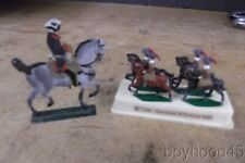 Grouping of Vintage Lead Soldiers--Revolutionary War Officer, Germans of Saxony